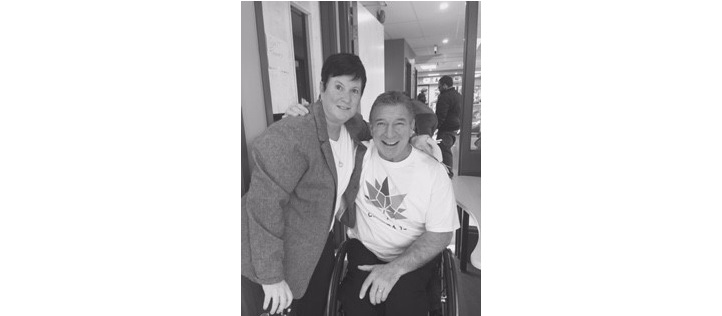 Carolyn West and Rick Hansen
