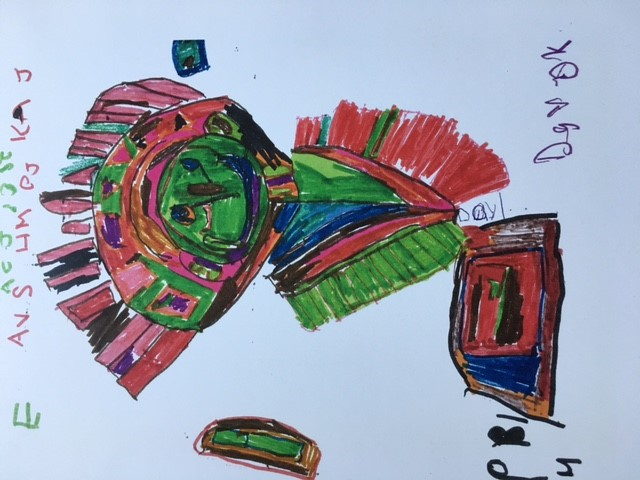 Daryl's colorful artwork inspired by his cultural heritage