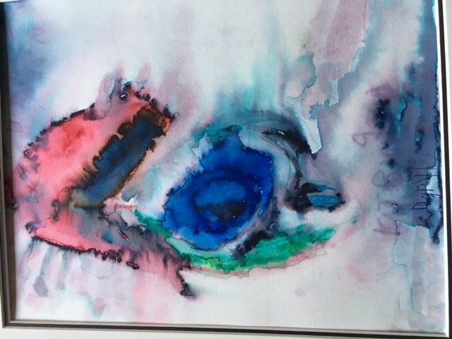 Daryl's watercolor art titled 'Drifting'
