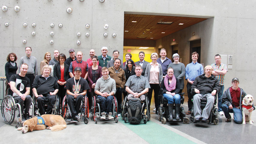 Group photo of Rick Hansen Foundation team