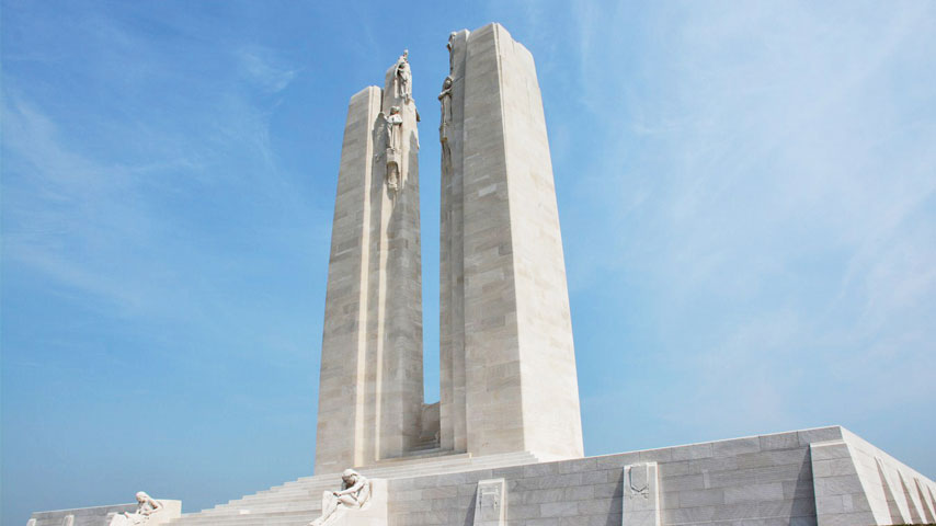 Photo of the Canadian National Vimy Memorial site in France.