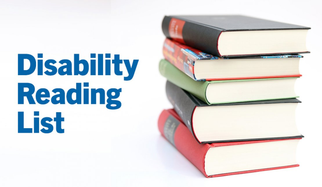 Text Graphic Says: Disability Reading List