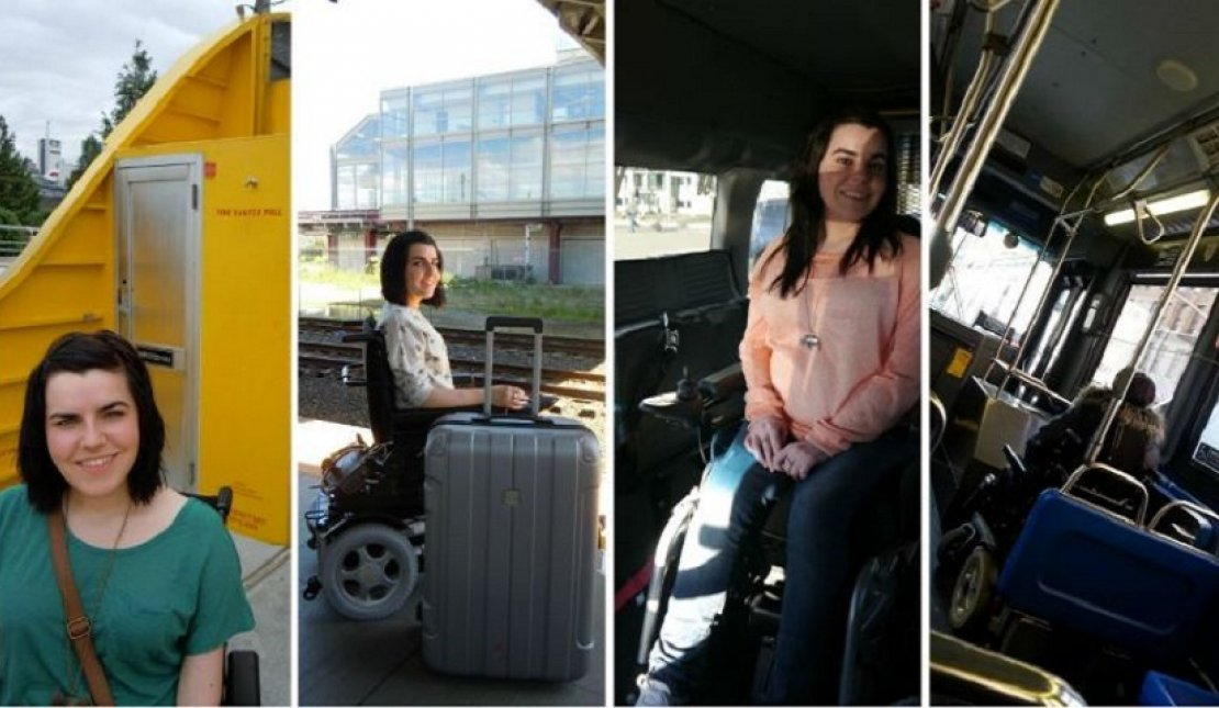 Wheelchair accessibility: On roof, railway, car, bus