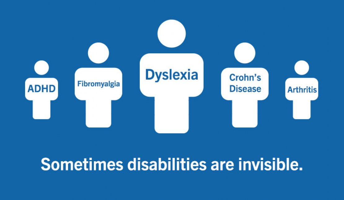 Text Graphic Says: Sometimes people with disabilities are invisible