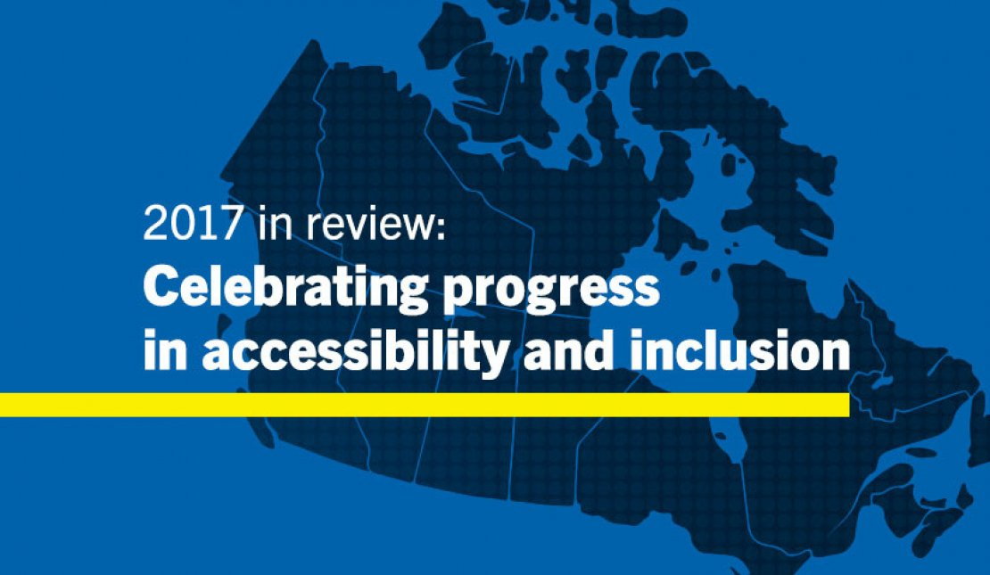 Text on Image says: 2017 in Review: Celebrating Progress and Inclusion
