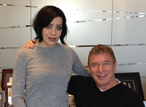 Photo of Bif Naked and Rick Hansen