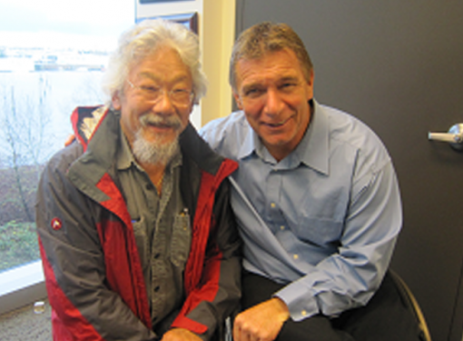 Photo of David Suzuki and Rick Hansen