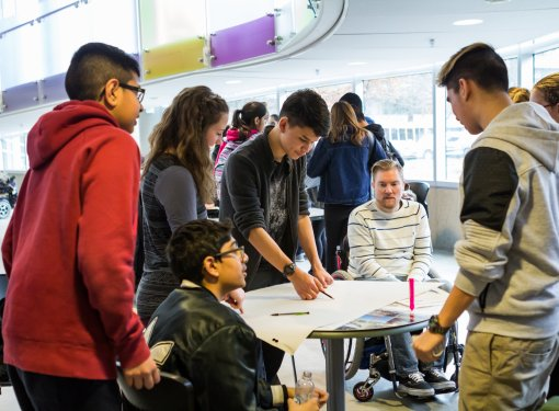 High school students participate in the Rick Hansen Foundation School Program