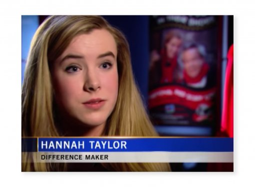 Screenshot of CTV Difference Maker Series Featuring Hannah Taylor