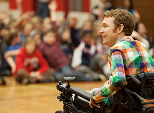 Rick Hansen Foundation ambassador speaks about people with disabilities