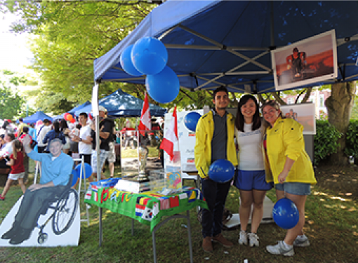 Rick Hansen Foundation Staff at Stevenson Village on Canada Day
