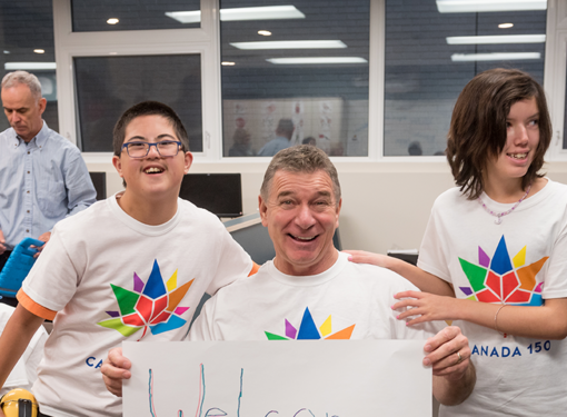 Rick Hansen and students improve access and inclusion with canada 150 barrier buster project