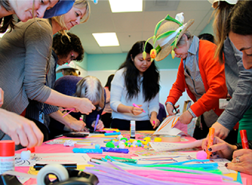 Rick Hansen Foundation staff makes art and crafts for easter celebration