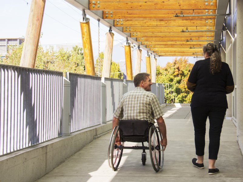 Accessible pathway in the built environment