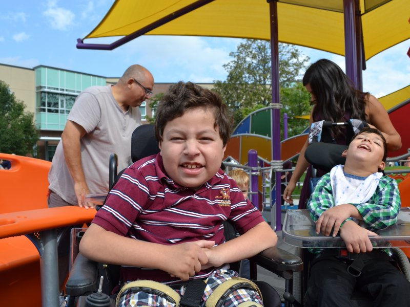 Children inclusion at accessible playground in built environment