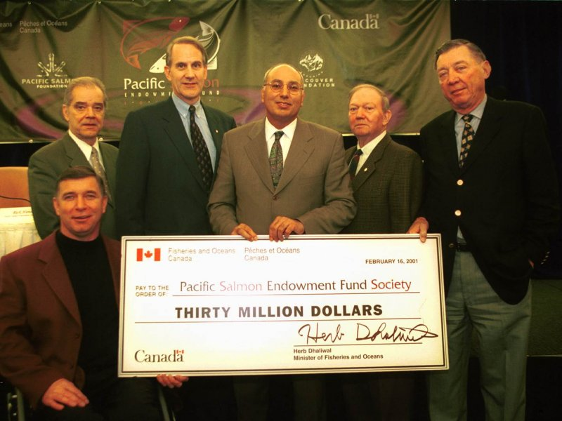 Rick establishes the Pacific Salmon Endowment Fund Society