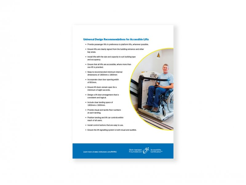 Universal Design Recommendations – Accessible Lifts