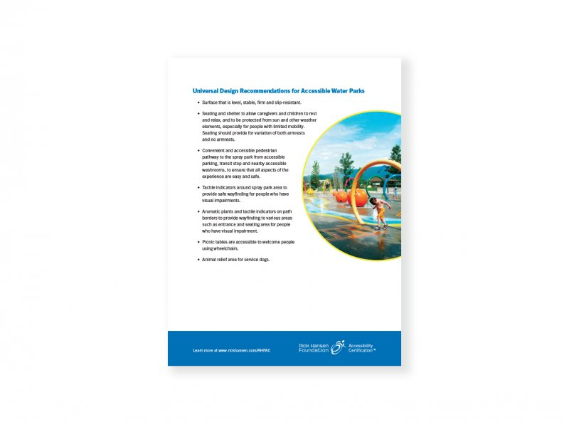 Universal Design Recommendations – Accessible Water Parks