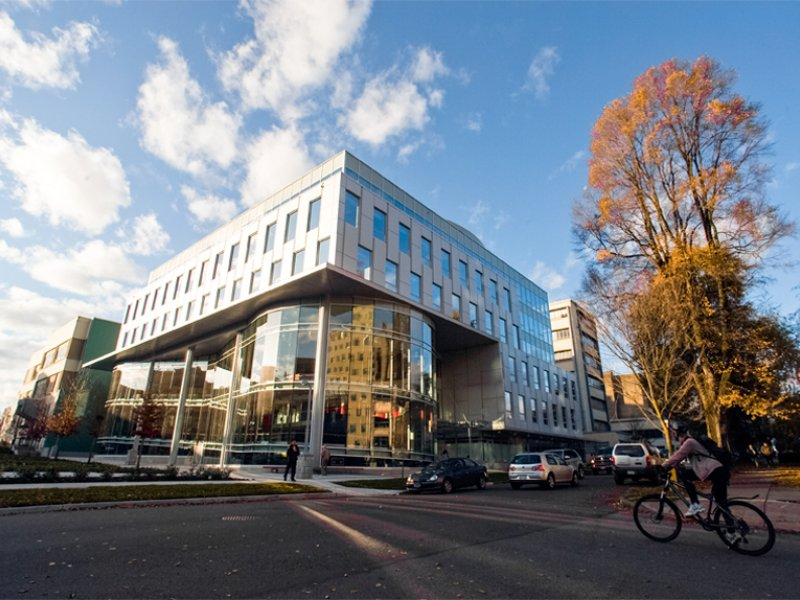 Outside view of the Blusson Spinal Cord Centre