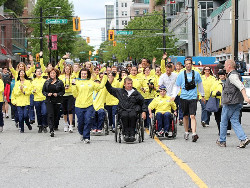 Rick Hansen Foundation in Vancouver during the last day of the 25th Anniversary Relay.