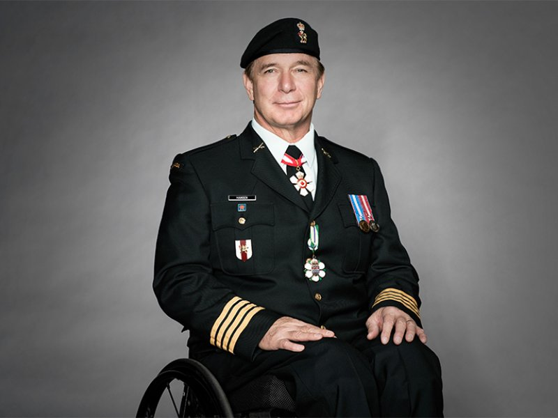 Rick in uniform as Honorary Colonel of the Join Personnel Support Unit (JPSU)