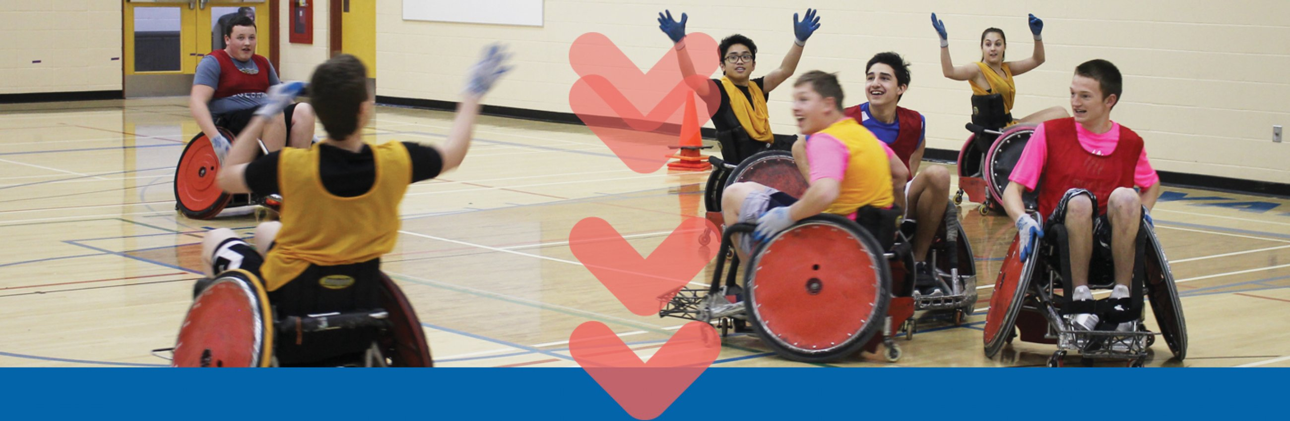 kids play wheelchair basketball