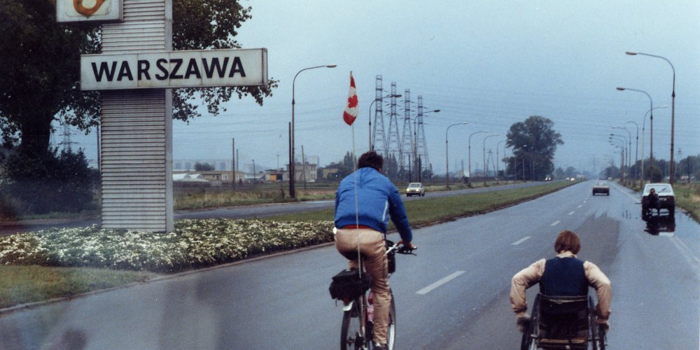 Man provides an escort back to the team's hotel after getting lost from a special event in Warsaw, Poland.