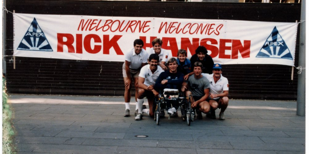 Melbourne, Australia welcomes Rick Hansen and his team